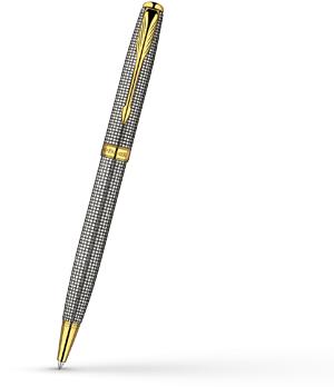 Шариковая ручка Parker Sonnet, позолота, гравировка, серебро 925 пробы, с  S0808170-S