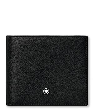 Бумажник Montblanc MEISTERST?CK SOFT GRAIN, 8сс, кожа, черный  118739
