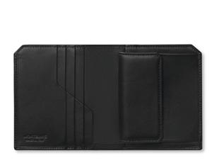 Бумажник Montblanc Urban Racing Spirit Wallet, 3 cc, кожа, черный  118715
