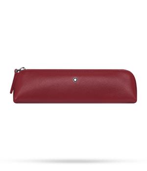 Чехол для ручки Montblanc Sartorial, для 2 ручек, на молнии, кожа, красный  116327