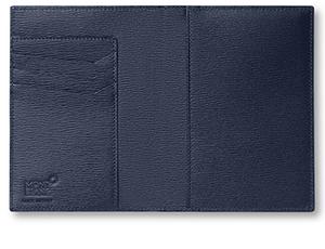 Обложка Montblanc 4810 Westside, для паспорта, кожа, синий  118663