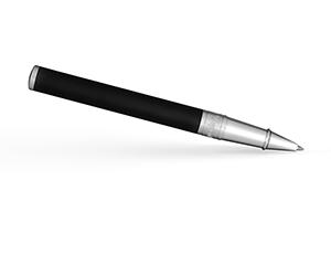 Чернильная ручка S.T. Dupont D-Initial, матовый лак, матовый хром, черная  262207