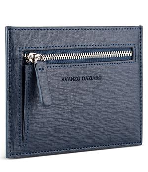 Кредитница Avanzo Daziaro Avanzo Daziaro, кожа сафьяно, синий  AD-019-102303'