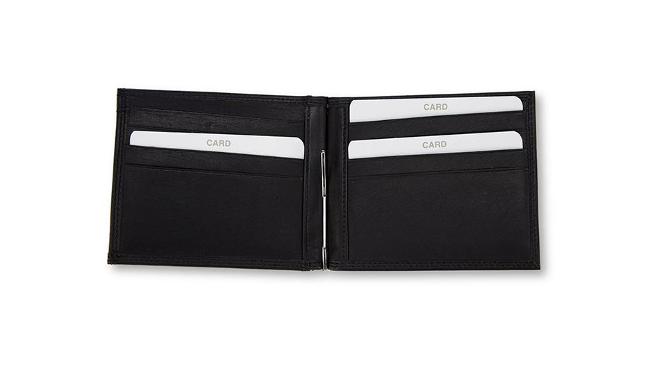 Зажим Golden Head Exclusive Banknote leather, для купюр, черный  192150-8