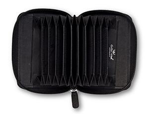 Чехол Golden Head Polo, на молнии, для кредитных карт, кожа, черный  450650-8