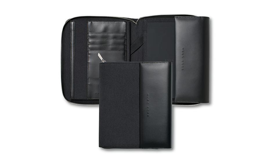 Папка Hugo Boss Advance, А5, экокожа, серый  HTM705J