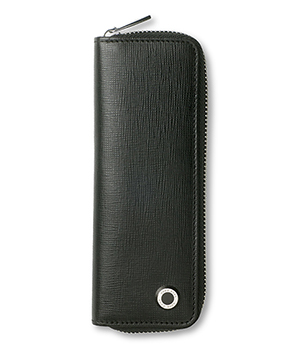 Чехол Hugo Boss Tradition, для ручек, на молнии, кожа, черный  HLX804A