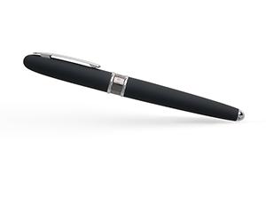 Чернильная ручка Hugo Boss Hugo Boss Stripe Soft Blue, матовый лак, синяя  HSG8085N