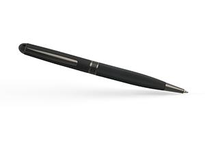 Шариковая ручка Hugo Boss Framework,латунь, геометрический рисунок, черная  HSG8874A