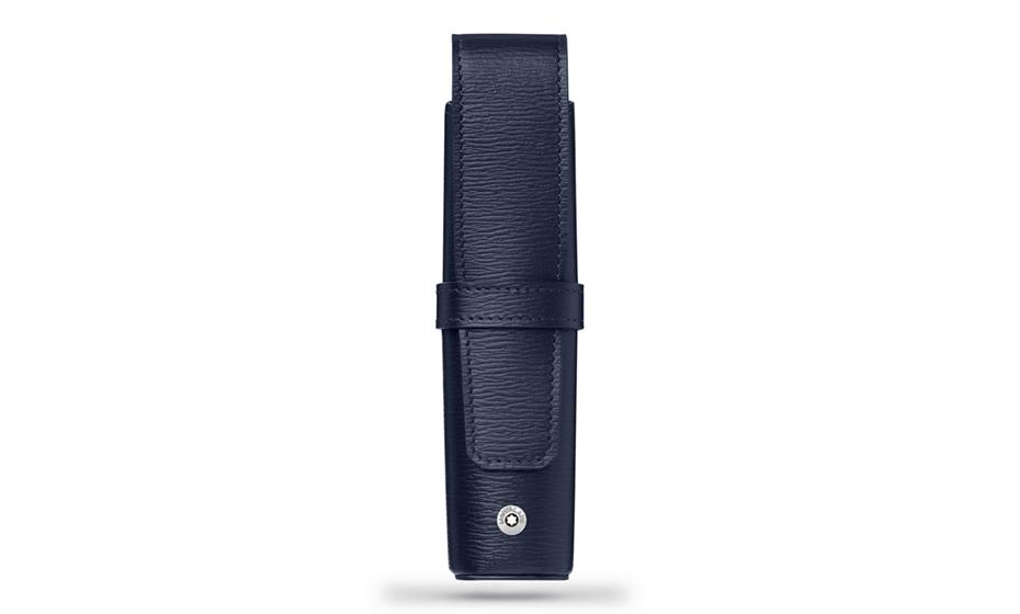 Футляр Montblanc 4810 Westside, кожа, для 1 ручки, синий  118664