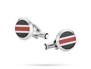 Запонки Montblanc Urban Spirit Racing, круглые, полосатая вставка, с  118596