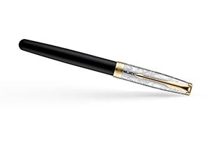 Перьевая ручка Parker Sonnet Special Edition Impression, лак, серебро, г  2054834
