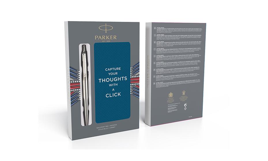 Набор Parker Parker Jotter St. Steel СT, шариковая ручка+блокно  2061287 3026980612870