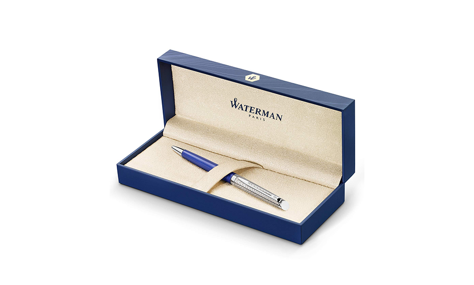 Шариковая ручка Waterman Waterman Hemisphere Deluxe Blue Wave, латунь, лак,  2043218 3026980432188