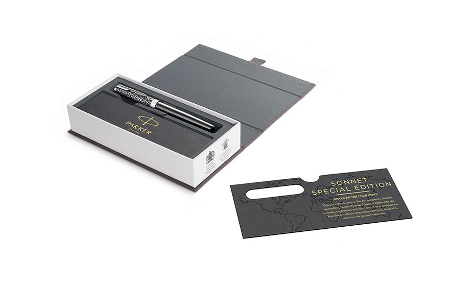 Чернильная ручка Parker Sonnet Special Edition Metro, матовый лак, серебро  2054824 2054824