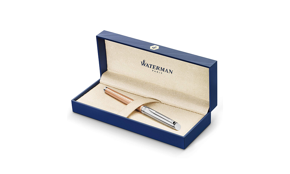 Перьевая ручка Waterman Waterman Hemisphere Deluxe Rose Wave, стальное пер  2043233 3026980432331