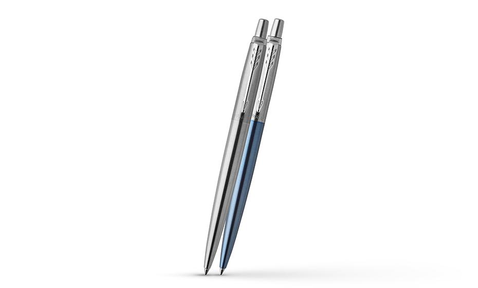 Набор Parker Jotter, ручка шариковая(2 шт.)+блокнот, сталь, сер  2062782 2062782 3026980627829