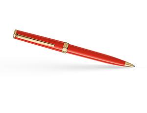 Шариковая ручка Montblanc Pix, смола, золотое напыление, красная  117655