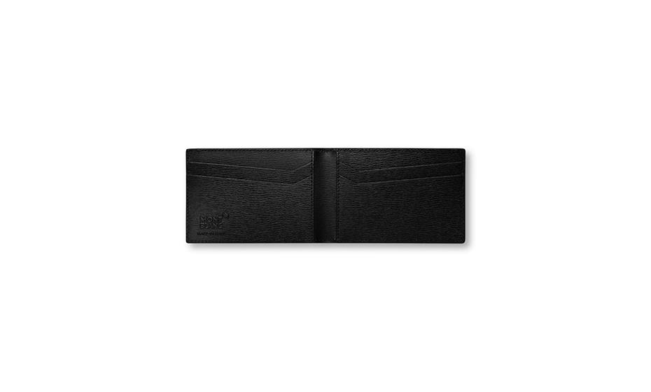 Визитница Montblanc 4810 Westside, 8сс, кожа, черная  116387