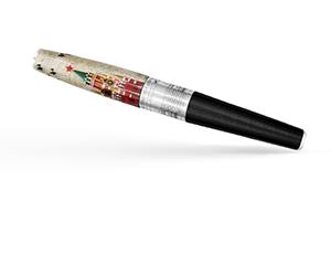 Перьевая ручка Gourji Над Спасской Башней, перо М, смола, серебро, лак  IFG0R3KM/111