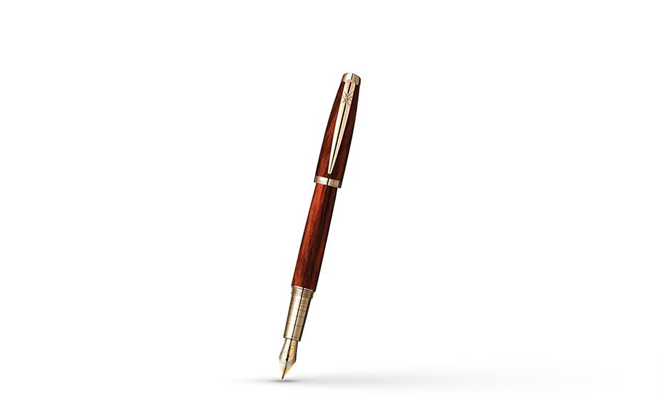 Перьевая ручка Pierre Cardin Pierre Cardin Majestic, латунь, акрил, коричнево-м  PCX755FP-RG