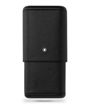 Чехол Montblanc Sartorial, для 3 сигар, кожа, черный  119297