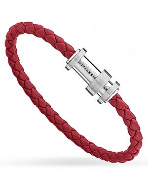 Браслет Montblanc RED, кожа, сталь, красный  11888168