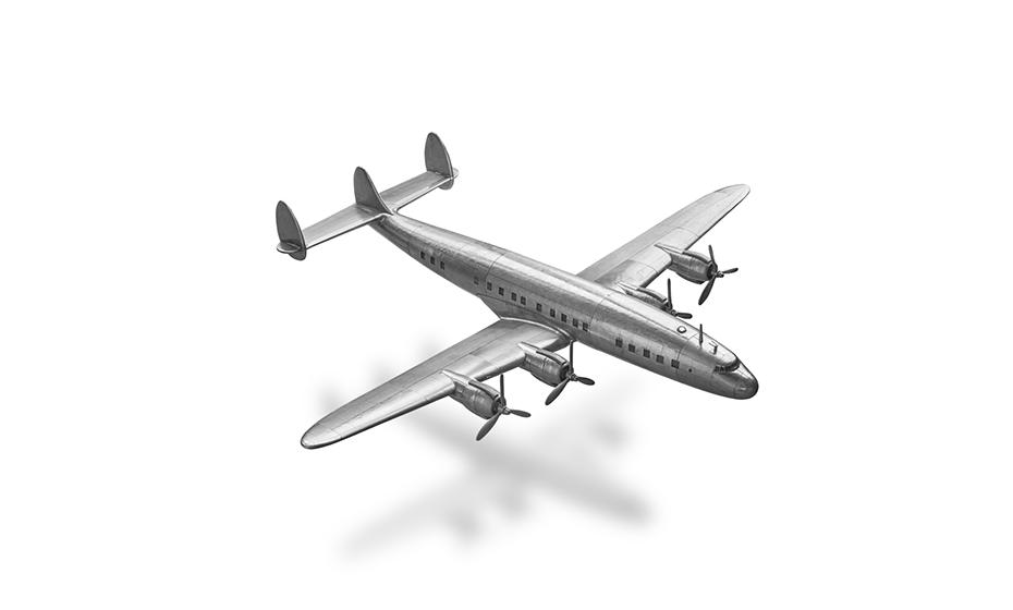 Самолет Authentic Models Constellation, ручная работа, алюминий  AP458