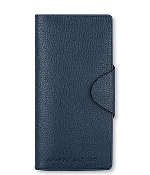 Портмоне Avanzo Daziaro GRAIN, вертикальное, зернистая кожа, синее  AD-018-510503'