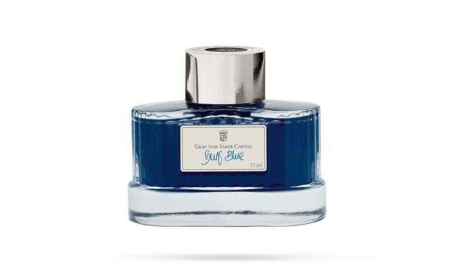 Чернила Graf von Faber-Castell Graf von Faber-Castell, Gulf Blue, в бутылочке, 75  141018