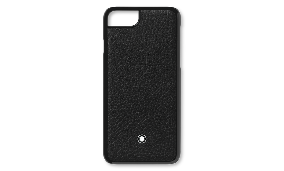 Чехол Montblanc MST Soft Grain, для IPhone 8, жесткий, черный  118408