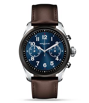 Часы Montblanc Summit 2, двухцветная сталь, кожа, коричневые  119439