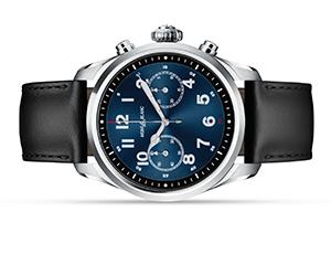 Часы Montblanc Summit 2, нержавеющая сталь, кожа, черные  119440