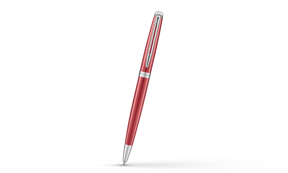 Шариковая ручка Waterman нержавеющая сталь, лак, пишущий узел М, поворотный  2043205 3026980432058