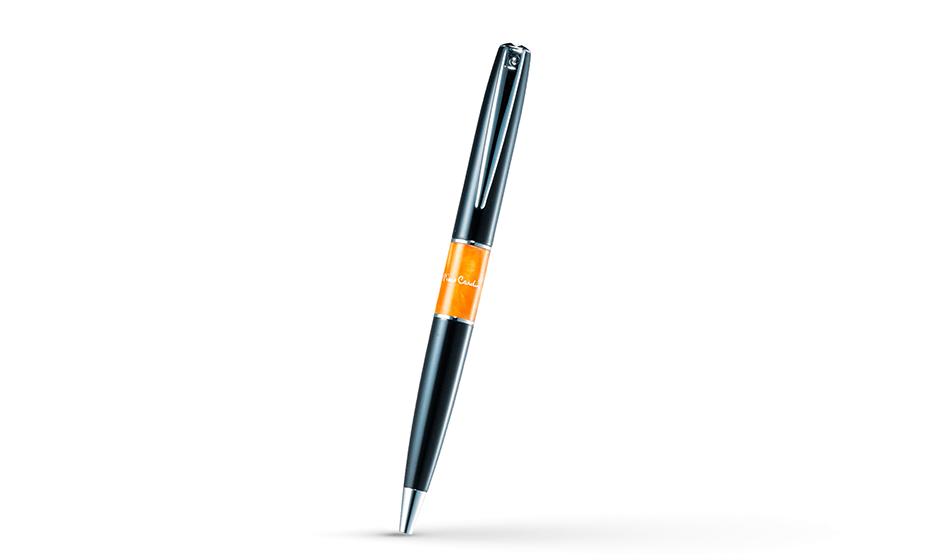 Шариковая ручка Pierre Cardin ювелирная латунь, черный лак, вставка из акриловой  PC3401BP