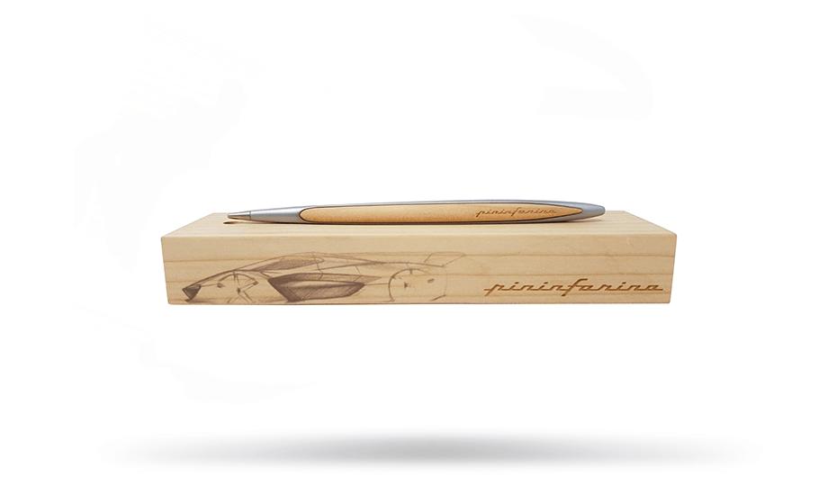 Вечная ручка Pininfarina дерево кедр, алюминий, в комплекте подставка, вес  NPKRE01686 NPKRE01686