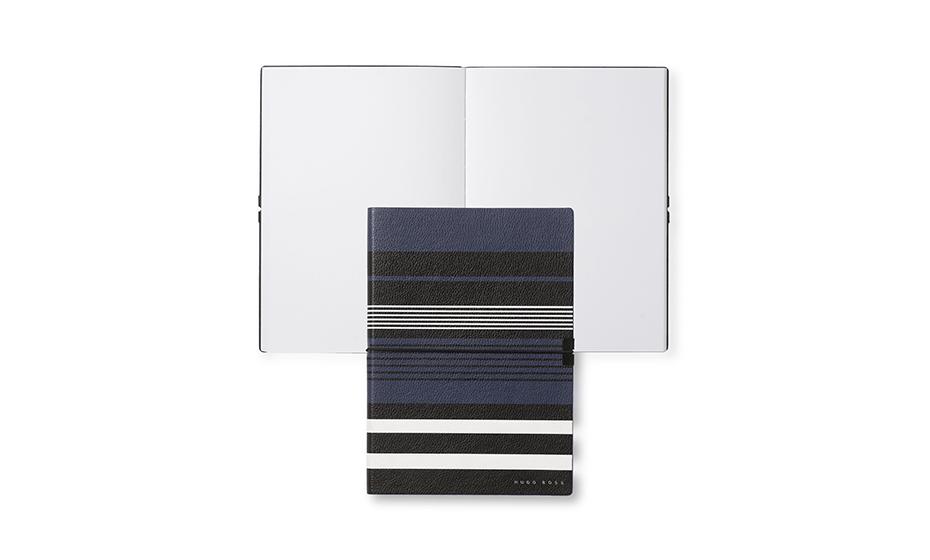 Блокнот Hugo Boss Блокнот А5 Storyline нелинованный, в синюю геометр  HNH908N