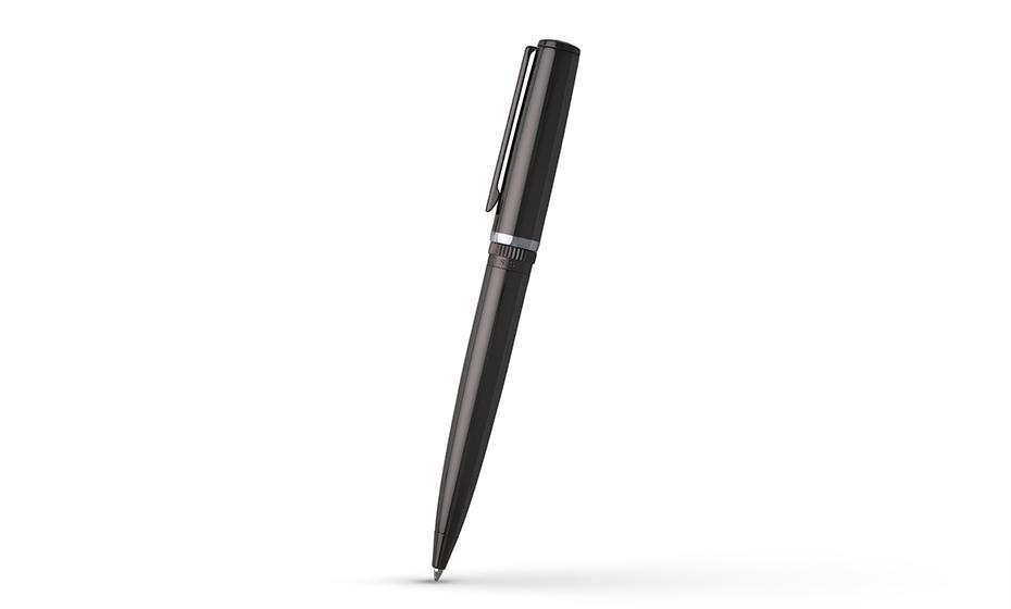 Шариковая ручка Hugo Boss Ручка шариковая Gear Metal темный хром, отделка ру  HSN9674D