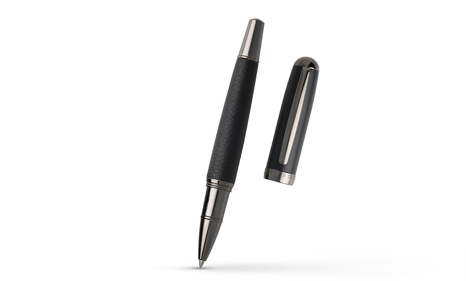 Чернильная ручка Hugo Boss Ручка-роллер Advanced черная эко-кожа  HSU9985A