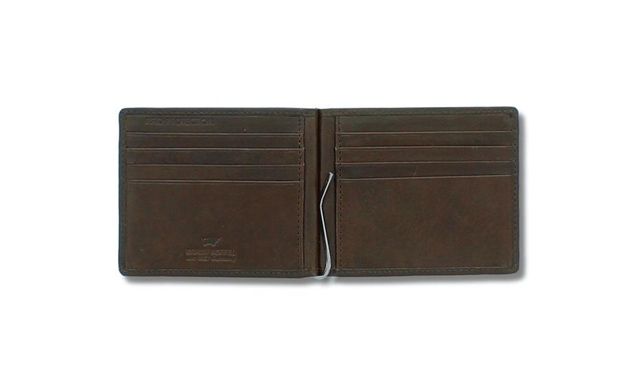 Зажим Braun Buffel Натуральная кожа, гладкая фактура, 11,5 x 9 x 1 см  81435-20