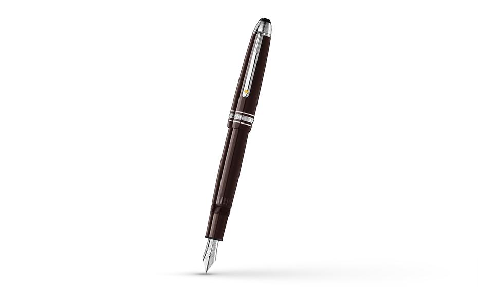 Перьевая ручка Montblanc драгоценная смола, перо из золота 585 пробы (14К)  119660