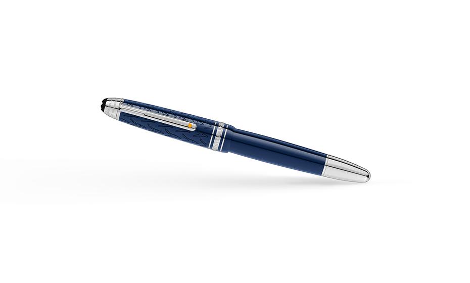 Перьевая ручка Montblanc драгоценная смола,   перо из золота 585 пробы с ро  118052