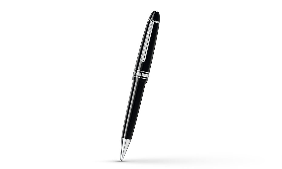 Карандаш Montblanc Драгоценная черная смола, отделка -три кольца с пл  108962