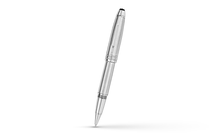 Чернильная ручка Montblanc платиновое напыление, съемный колпачек  118098