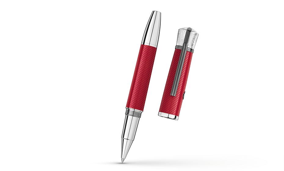 Чернильная ручка Montblanc драгоценная смола,  клип с рутениевым напылением,  117890