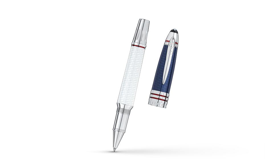 Чернильная ручка Montblanc Платиновое напыление, лак, съемный колпачек  111043