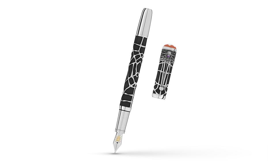 Перьевая ручка Montblanc Серебро 925 пробы, съемный колпачек  117849