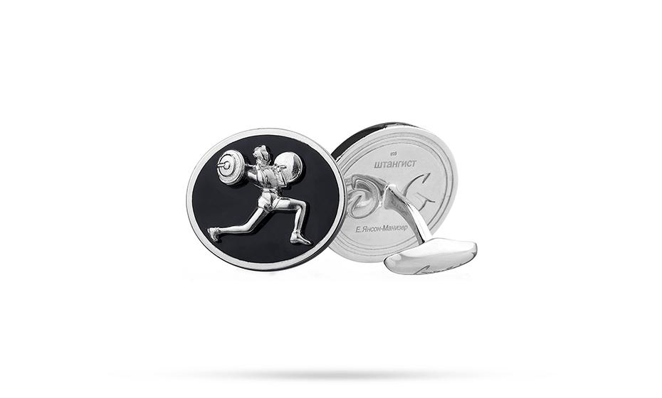 Запонки Gourji серебро 925 пробы, эмаль, 25,52г  67.61408.0