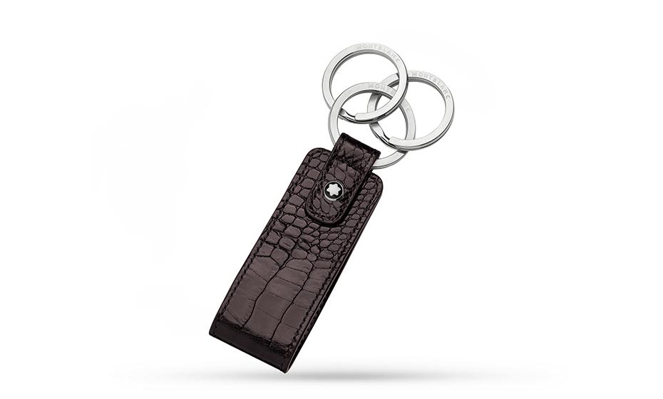 Брелок Montblanc нержавеющая сталь, кожа, 3 кольца для ключей, 3 х  113509