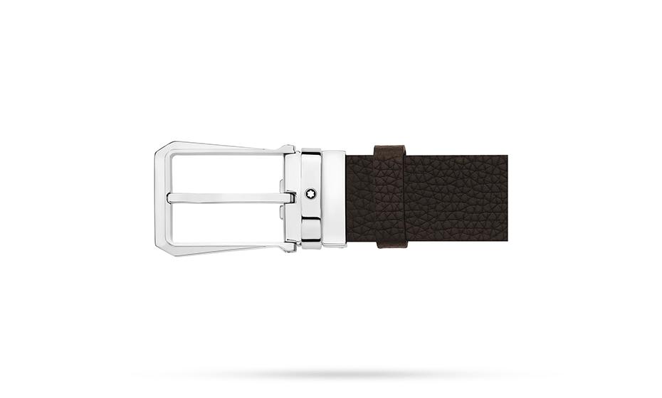 Ремень Montblanc зернистая кожа и натуральный нубук, стальная пряжк  118446